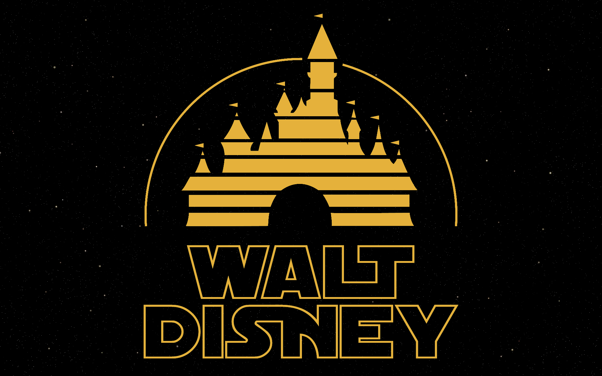 Disney Logo with Star Wars like Lettering